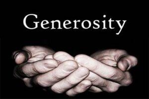 Generosity - A gesture