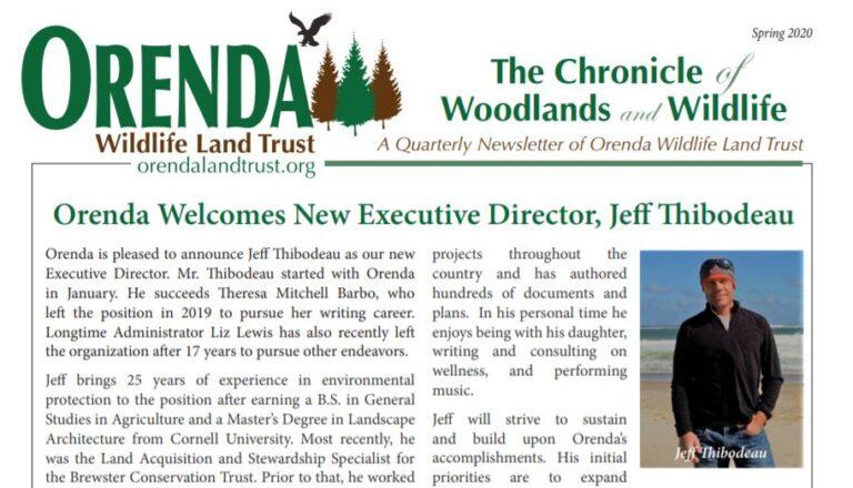 Orenda Spring 2020 Newsletter